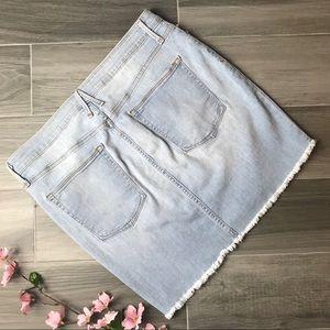 Good American Skirts - Good American   Distressed Seam Denim MiniSkirt